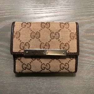 Gucci French Flap Wallet (authentic)